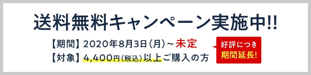 オンラインストア送料無料キャンペーン期間延長!