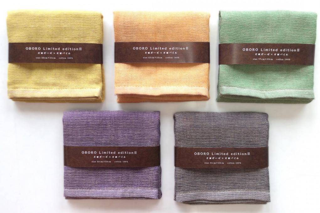2色の色糸で奥行きのある色合いを表現したゆったり拭けるガーゼハンカチ