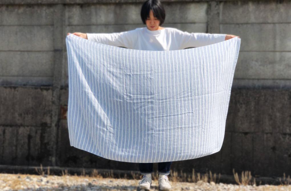 ゆったりサイズの大きなタオルケット