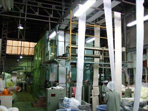 乾燥工程(サクション乾燥機)